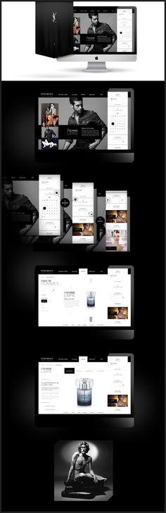 Yves Saint Laurent (press & corporate) by Antoine Pelgrand Kostadinoff, via Behance