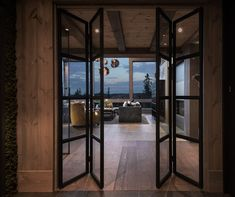Kvitfjell - Spectacular log cabin with a very high standard, fantastic . Modern Interior Design, Interior Design Living Room, Modern Lodge, Building A Cabin, Timber House, Cabin Interiors, Cabins And Cottages, Cabin Homes, Future House
