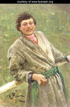 """Repin  """"The Byelorussian, portrait of the peasant S"""""""