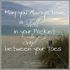 May you always have a SHELL in your Pocket & by BeachCottageLife, $39.00