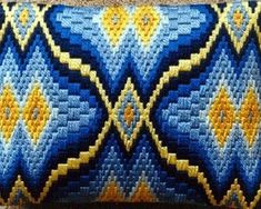 Cathys Original Bargello Patterns Page, needlepoint bargello Broderie Bargello, Bargello Needlepoint, Bargello Quilts, Needlepoint Stitches, Needlework, Hardanger Embroidery, Cross Stitch Embroidery, Embroidery Patterns, Cross Stitch Patterns