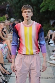 Male Fashion Trends: Marcel Ostertag Spring-Summer 2019 - Berlin Fashion Week Marcel, Male Fashion, Fashion Trends, Berlin Fashion, Pink Outfits, Spring Summer, Clothing, Men, Moda Masculina