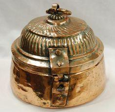 Antique copper frankincense pot