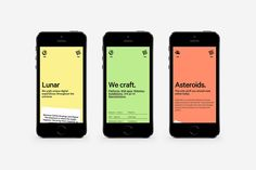 Lunar Gravity is a boutique digital design & development studio based in Antwerp, Belgium. Website by Matthias Deckx Design Ios, Mobile Web Design, Interface Design, Graphic Design, Design Thinking, Digital Web, Design Typography, Ui Design Inspiration, Application Design