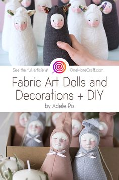 Discover the world of handmade fabric toys and dolls, which look absolutely magnificent and fairy. + DIY