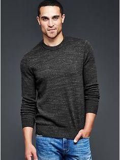 Marled crew sweater | Gap - M