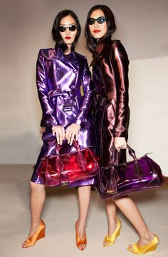 ElectricColor Trench Coat Trend for Spring Summer 2013.  Burberry ProrsumSpring Summer 2013 #Trendy #Fashion #Trends