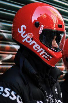 a48e9bc67eb Supreme x Simpson Street Bandit RARE Red Motorcycle Helmet