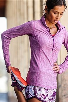 When it's cool, you'll be cozy in the New Balance Impact Half Zip.