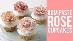 Gum Paste Rose Cupcakes