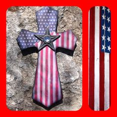 American Flag Wood Cross by SignsBYDebbieHess on Etsy, $25.00