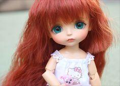 Bjd 1/8 muñeca soleado amarillo lati benny HeHeBJD lea momo (2 piezas de mano adicional) gratis ojos envío libre Encantadoras muñecas del bebé