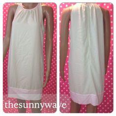 New Victoria`s Secret Colorblock Pleated Shift Sheath Dress Mint White Size 4 | eBay