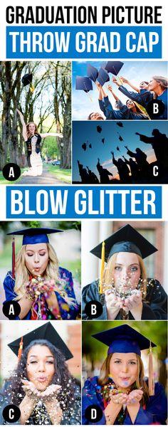 Throw your Cap and Blow some Glitter!! Graduation Picture Ideas!