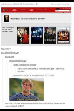 Gosh, Netflix is so mean sometimes.  There will NEVER be new eps of Merlin.  Ever.  *sob* <--- There will be a time when Merlin will rise again when he is needed most