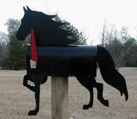 Morgan Horse Mailbox - What better way to show your love for your favorite Black Morgan than to have a beautiful Morgan Horse Mailbox to represent your horse. Giddy up on over to see whats new at www.HorseToysSuperstore.com. We have a fantastic collection of horse toys and gifts for horse lovers!