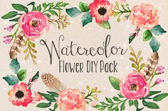 70 Beautiful Watercolor Graphics, Effects, Brushes, and More ~ Creative Market Blog