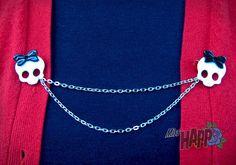 Little skull peep Sweater Clip or guard by MissHapp on Etsy, $10.00