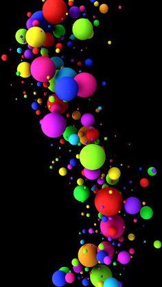 Multi colors balls D moment love