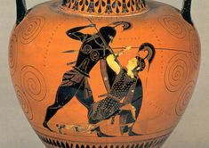 Achilles falls in love with Amazon queen Penthesileia as he stabs her to death. #Iliad #Homer