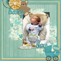 Sweet Shoppe Designs is a full service digital scrapbooking site which offers high quality digital scrapbook products from the industry's top designers. Baby Scrapbook Pages, Scrapbook Quotes, Baby Boy Scrapbook, Scrapbook Cards, Scrapbook Layout Sketches, Scrapbooking Layouts, Diy Gifts For Grandma, Baby Mini Album, Creative Memories