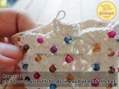 Porte monnaie orné de perles , avec son pas à pas en images gratuits !