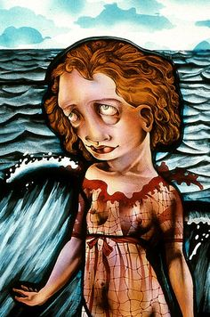 A Q&A with post-punk stained glass sorceress Judith Schaechter | Fisherman detail