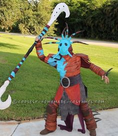 How to Train Your Dragon Valka (Hiccup's Mom) Costume... Coolest Halloween Costume Contest