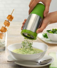 Green Stainless Steel Herb Mill