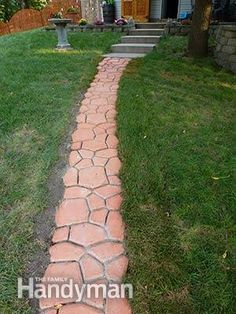 Ten years ago, I installed a pathway from my house to my shop using concrete stepping-stones that looked like log cutouts.