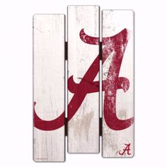 Alabama Crimson Tide Wood Fence Sign