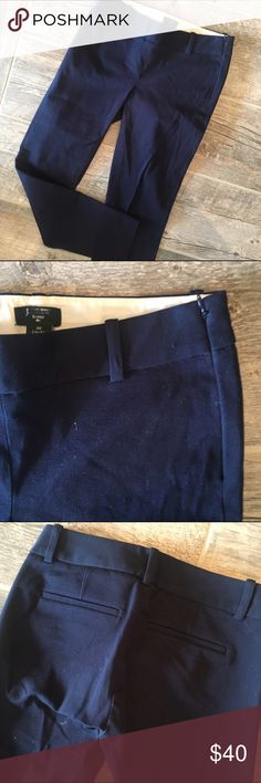 J. Crew CityFit Dress Pants with Zipper Polished navy dress pants that are an amazing staple that will last you a while! J. Crew Pants Ankle & Cropped