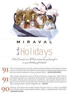 Miraval minis make a holiday gift basket extra-special!