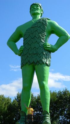 https://flic.kr/p/pMU5er   The Jolly Green Giant in Daylight   We went back to Blue Earth MN just so we could see this guy in daylight. It was worth it.