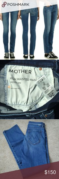 Mother Denim Jeans High Waist Rascal Skinny Sz 26 Super comfortable stretchy MOTHER DENIM Designer Jeans! Skinny at the ankle, high waisted. No holes or defects. Make an offer!  MOTHER Jeans Skinny