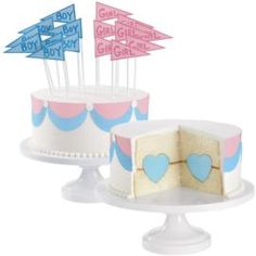 Now the anticipation is about to come to its peak! Soon you will know: boy or girl. Each guest will pull a flag as to what he or she thinks the baby will be. There will be a blue group and a pink group. As soon as the cake is cut, the winners will be declared.