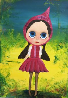 Little Pink Riding Hood - Laura Munteanu - Artist Acrylic Paintings, Disney Characters, Fictional Characters, Disney Princess, Canvas, Artist, Pink, Image, Outfit