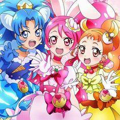 Gelato/Aoi, Whip/Ichika, and Custard/Himari