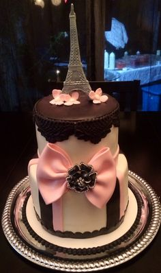 Paris Themed Cake. By Ninis Sweet Creations