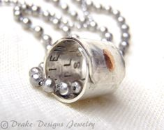 Hidden Message Personalized Necklace Boyfriend Husband Gifts for Him Gift for Her. $51.00, via Etsy.