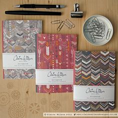 Featuring beautiful tribal inspired patterned covers, these notebooks are great for jotting down important notes and ideas, or just for doodling away!