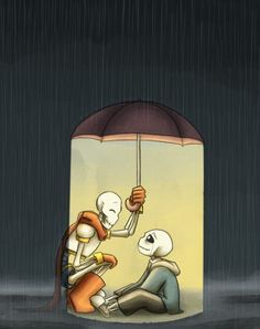 Papyrus is Sans' only ray of sunshine.  Art by Zarla