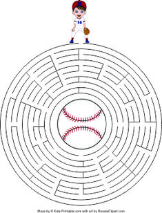 Moms Break : Baseball Printable Maze for Kids – Free