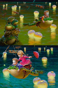 Paintings by Victor Nizovtsev Victor Nizovtsev, Foto Fantasy, Film D'animation, Dream Art, Fairy Art, Fantastic Art, Art Background, Children's Book Illustration, Whimsical Art
