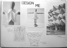 Fashion Sketchbook - geometric fashion design development; fashion portfolio // Rosa Kramer