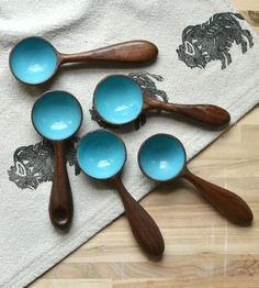LOVE :: Blue Wood Coffee Scoop by April Not June