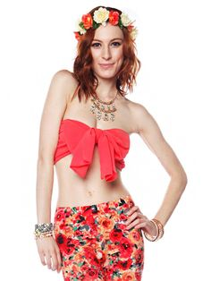Bow front crop top $11.99 #bow #ribbon #crop #top