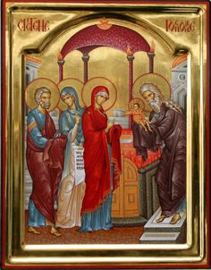 Presentation of Christ in the Temple Italian Army, Temple, Orthodox Icons, Serbian, Bible Stories, Kirchen, Fresco, Madonna, Jesus Christ