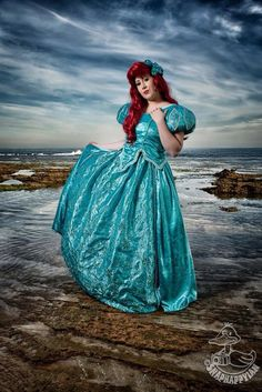 Ariel Mermaid Aqua Sea Foam Park Inspired Dress with by Bbeauty79