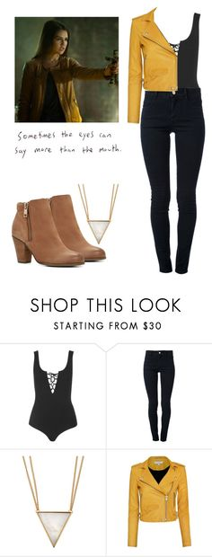 """""""Davina Claire - The Originals"""" by shadyannon ❤ liked on Polyvore featuring Topshop, STELLA McCARTNEY, Panacea, IRO and ALDO"""